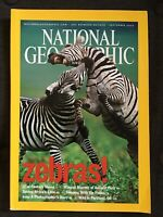 National Geographic Magazine September 2003 Zebras Peru Mummy Gabon Park Iraq