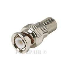 100 Pack Lot BNC Male Plug to F Female Coax CCTV RG59 Cable Adapter Connector