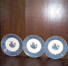 3 Mississippi Riverboat Saucers by Royal