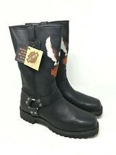 NWB Harley Davidson Men's Patriot Lug Eagle Leather Boots #D91513 Size:7 W