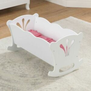 Kidkraft Lil Doll Cradle | Wooden Toy Doll Cot | Fits Full Sized Baby Dolls