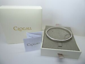 Clogau Gold, Silver & Rose Gold Cariad Heart Bangle