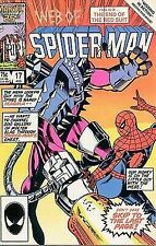 Web of Spider Man 17 Comic Book 1986 Very Fine Condiiton Missing in Action: Part