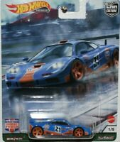 HOT WHEELS CAR CULTURE PREMIUM BRITISH HORSE POWER McLAREN F1 GTR Gulf NEW