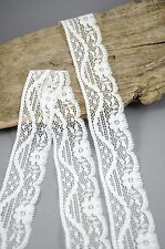 WHITE VINTAGE Elastico Stretch pizzo sposa Craft rifilatura Sew 35mm