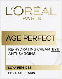 L'Oreal Age Perfect Re-Hydrating Cream, for Mature Skin, Eye, .5 oz