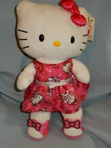 """Build A Bear Hello Kitty White in Pink Dress Shoes 18"""""""