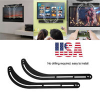 Universal Sound Bar Soundbar Speaker Bracket Mount Above Below TV Adjustable
