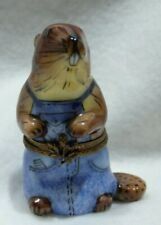 Limoges France Trinket Box, Busy Beaver, Chamart Exclusive, Excellent!