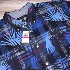 Tommy Hilfiger Mens Shirt Hawaiian Print Short Sleeve XXL