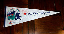 Signed PENNANT: Norwegian Cruise Line NFL Cleveland Browns Football Matt Stover