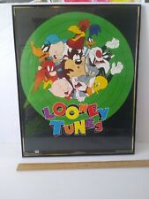 Vtg Rare Warner Bros Looney Tunes Poster 1993 Framed 20x16 #82254 Bugs And Crew