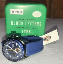 FOSSIL Decker CH2879 Men's Blue Silicone Strap Chronograph Watch Minor Scratches