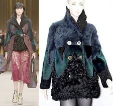 $9,000 Burberry Prorsum 8 10 42 Patchwork Shearling Jacket Coat Women Lady NEW B
