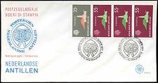 Antille olandesi 1977 LIBRETTO riquadro FDC primo giorno Coperchio #C 26671