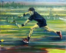 Rafael Nadal Tennis, Eastbourne  16 x 20.Original Oil on canvas Hall Groat Sr.