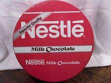 Vintage Red Tin Nestle Milk Chocolate Round Tin Made In Mexico