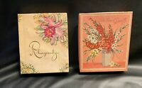2 Vintage Empty Greeting Card Boxs.
