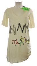 Arlette Kaballo Tunika 38 weiß Shirt neu Baumwolle print T-Shirt long Top