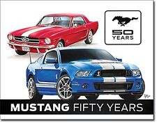 (Ford) Mustang 50 Years Metal Sign      (ga)