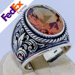 Alexandrite Change Color Stone 925 Sterling Silver Luxury Men's Ring All Sizes