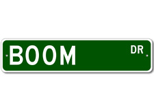BOOM Street Sign - Personalized Last Name Signs