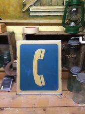 Vintage plastic pay phone sign