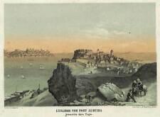LISSABON dekorative Ansicht Malerisches Universum um 1840 ORIGINAL