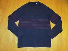 Sportif Blue Wool Crewneck Pullover Ski Sweater Hong Kong Men's XLT3