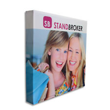 225x225cm Straight Fabric Media Wall / Exhibition Media Stand / Pop Up Frame