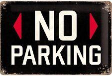 No Parking embossed metal sign   (na 3020)