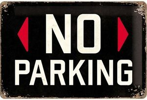 No Parking embossed metal sign (na 3020)