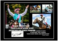 (132#)  frankie dettori signed a4 photograph (reprint) great horse racing gift #