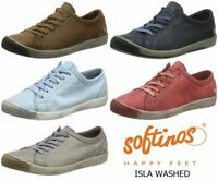 Softinos Isla Soft Washed Smooth Leather Trainers Pumps Shoes made by Fly London