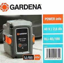 GARDENA System Akku BLi - 40/100 40V 2.6Ah Li-Ion 09842 neu 30 32 37 41 60 100