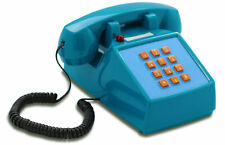 Opis PushMeFon 1970er Retro-Tastentelefon Festnetz-/ Tischtelefon hellblau