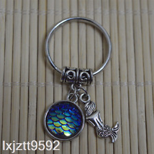 Deep Blue Ab Mermaid keychain, bagcharm zipper bag charm mermaid party favors