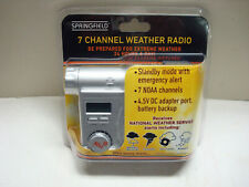 New listing Springfield 91418 Noaa 7 Channel Weather Radio with Alert. New. Sealed.