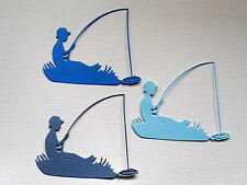 Fishing Man Boy Fisherman Paper Die Cuts  x 8 Scrapbooking Embellishment