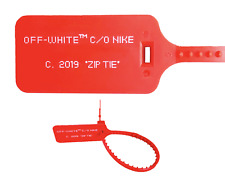 Nike x Off White TAG RED Custom ZIP Tie 2019 air Jordan 1 Presto Vapormax Zoom