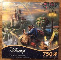 "Disney  thomas kinkade puzzle 750 Pc Beauty And The Beast 24""x18"" New Sealed"