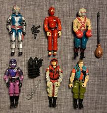 1987 Hasbro G.I. Joe Action Figure Lot Jinx Cobra Commander Techno Viper Big Boa