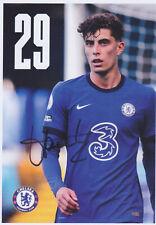 Kai Havertz - original signierte Autogrammkarte - FC Chelsea - 2020/2021