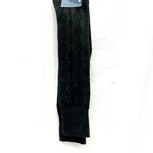 Universal Thread™ Women's Quilt Stitch Super Soft Knee High Black Boot Socks