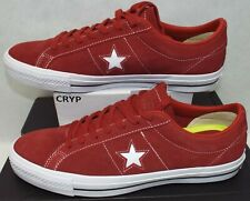 New Mens 11 Converse One Star Suede OX Terra Red Leather $70 157873C