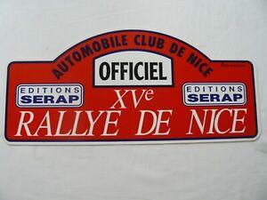 PLAQUE  RALLYE DE NICE