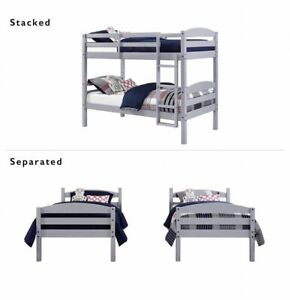 better homes and gardens leighton wood twin bunk beds