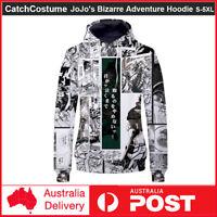 JoJo's Bizarre Adventure Hooded Sweatshirt Sweater Casual Hoodie Pullover Coat