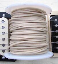 """50 ft"""" Cloth Push Back """"TINNED"""" Guitar Wire White 22 ga On Spool Vintage Gavitt"""