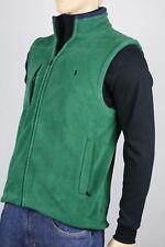POLO Ralph Lauren Green Fleece Vest Navy Blue Pony NWT